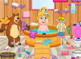 Игра Маша и Медведь: Уборка в ванной комнате