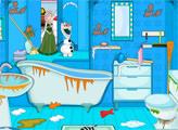 Игра Эльза убирает ванную