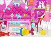Игра Уборка в Зимнем Домике Барби