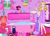 Игра Уборка ванной Барби