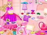 Игра Беременная Супер Барби затеяла уборку