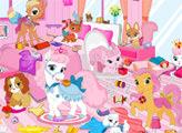 Игра Уборка в комнате питомцев принцесс