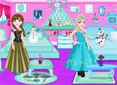 Игра Эльза и Анна выбирают интерьер