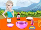 Игра Эльза и сливочное пирожное-мороженое