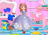 Игра Принцесса София - уборка спальни