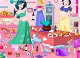 Игра Беременные принцессы убирают комнату