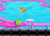 Игра Спасение котенка в бассейне