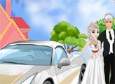 Игра Эльза украшает свадебное авто