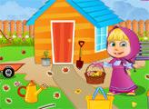 Игра Маша и уборка в саду
