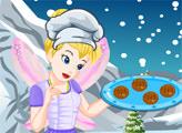 Игра Тинкер Белл готовит зимнее печенье