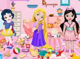 Игра Маленькие принцессы и уборка в игровой комнате