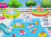 Игра Королевские питомцы: Вечеринка в бассейне