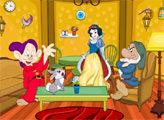 Игра Уборка дома Принцессы Белоснежки