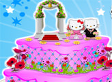 Игра Свадебный торт от Хелло Китти