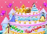 Игра Торт от принцессы на День Рождения
