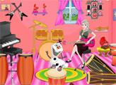 Игра Эльза и декор для музыкальной комнаты