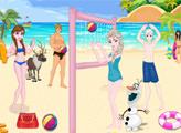 Игра Холодное сердце: Декор пляжного волейбола