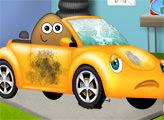 Игра Поу ремонтирует автомобиль