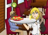 Игра Лилу официантка в итальянском ресторане