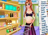 Игра Беременная Анна делает покупки