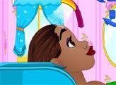 Игра Принцесса Тиана делает прическу