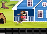 Игра Девочка и спасение от собаки