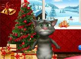Игра Говорящий Том: Новогодний декор