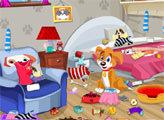 Игра Уборка вместе со щенком