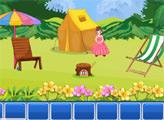 Игра Принцесса Пинки - побег с острова
