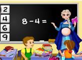 Игра Беременная Эльза - школьная учительница