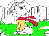 Игра Раскрась щенка