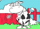 Игра Корова Дейзи - раскраска