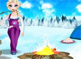Игра Зимний пикник с Эльзой