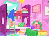 Игра Уборка после пижамной вечеринки принцесс