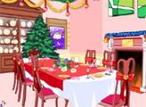 Игра Украшение обеденной комнаты на Рождество