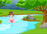 Игра Принцесса Пинки - Спасение на реке