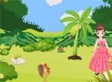 Игра Принцесса Пинки - Спасение обезьянки