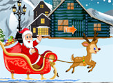 Игра Санта Клаус - побег от медведя
