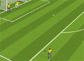 Игра Евро Кубок: удар по воротам