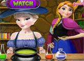 Игра Эльза и Анна варят супер зелье