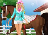 Игра Барби катается на лошади