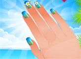 Игра Студия ногтей - пляжный дизайн