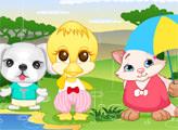 Игра Вечеринка питомцев в дождливый день