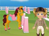Игра Малышка Эмма заботится о пони