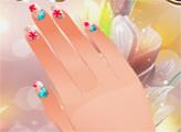 Игра Студия ногтей - растительный дизайн