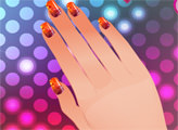 Игра Студия ногтей - дизайн в горошек