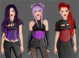 Игра Студия моды - девушка-гот