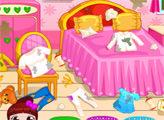 Игра Стирка и порядок в спальне