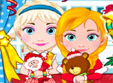 Игра Новогодний шоппинг Анны и Эльзы