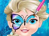 Игра Рисунок на лице малышки Эльзы